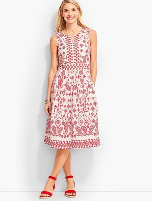 Bandana Paisley Fit-And-Flare Dress $119 thestylecure.com