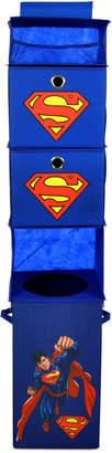 Modern Littles Superman Closet Hanging Organizer with 2 Storage Bins