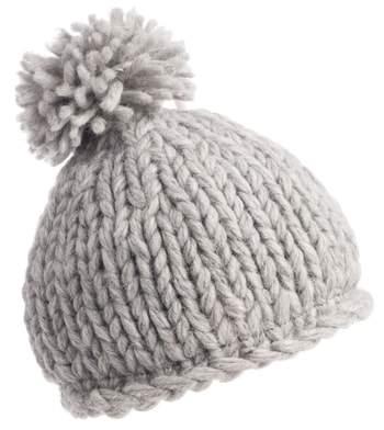 Women's Nivanna Designs Chunky Knit Pompom Beanie - Grey