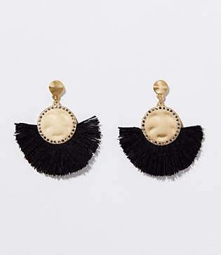 LOFT Pave Fringe Drop Earrings