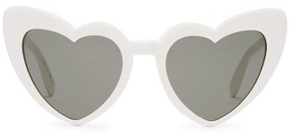 Saint Laurent Loulou Heart Shaped Acetate Sunglasses - Womens - White