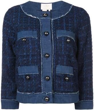 Kate Spade denim tweed jacket
