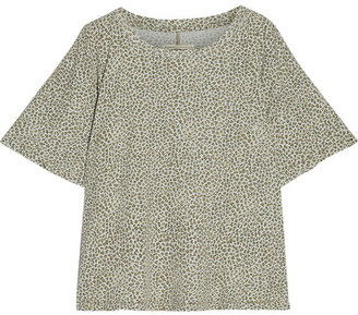 Current/Elliott - The Roadie Leopard-print Cotton-jersey T-shirt - Leopard print $130 thestylecure.com