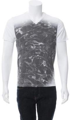 Calvin Klein Collection Bubble Print V-Neck T-Shirt