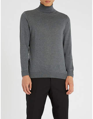 BOSS Turtleneck wool jumper