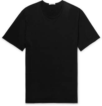 James Perse Slim-Fit Cotton and Cashmere-Blend Jersey T-Shirt - Black