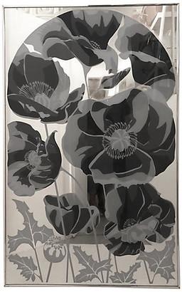 One Kings Lane Vintage Large Flowers Mirror - C. 1970 - nihil novi