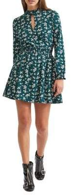 Miss Selfridge Floral Fit-&-Flare Dress