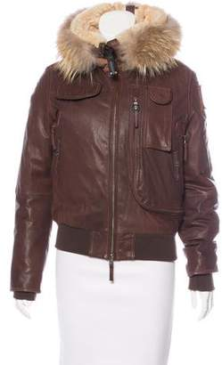 Parajumpers Leather Down Jacket
