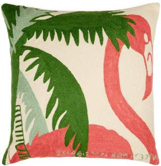 Kilometre Paris - Collins Miami Florida Embroidered Cushion - Multi