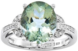 Sterling Choice of Oval Gemstone w/ Interlocking Shank Ring