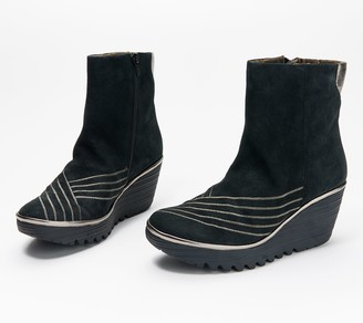 Fly London Leather Wedge Boots - Yeni
