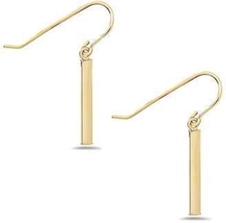 Best Silver Inc. 14K Yellow Gold Bar Drop Earrings