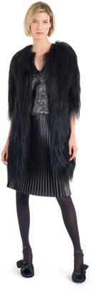 Max Studio pleated metallic skirt