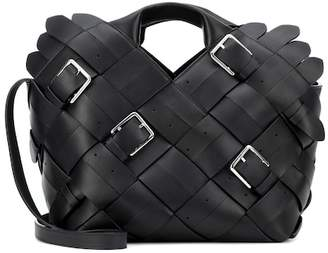 Loewe Woven buckle leather tote