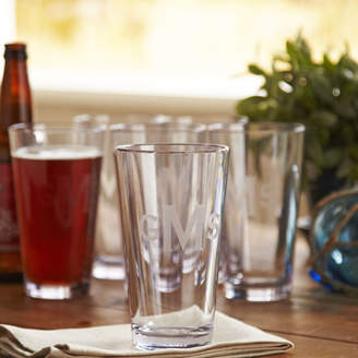 Birch Lane Monogrammed Tritan Outdoor Pint Glasses