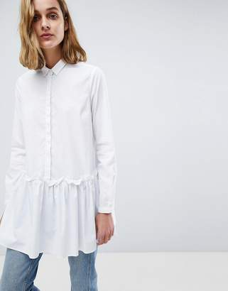 Moss Copenhagen Oversized Shirt With Peplum Hem