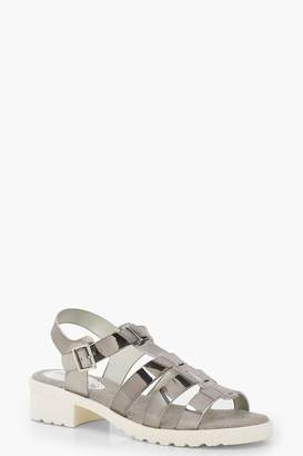 boohoo Cleated Fisherman Sandals