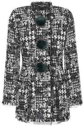 Dolce & Gabbana Fur-trimmed tweed jacket