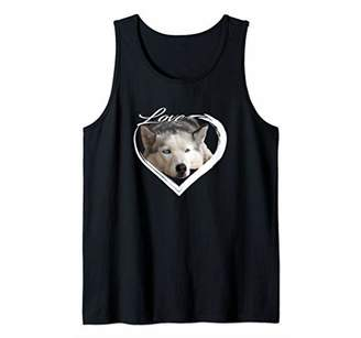Love Eyed Husky Lover of Animal Gifts Tank Top