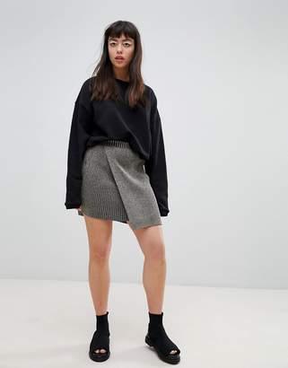 Weekday Step Hem Sparkle Skirt Co-Ord