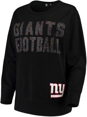 SuperStar G Iii Women's G-III 4Her by Carl Banks Black New York Giants Pullover Sweatshirt