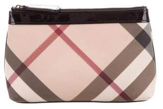 Pre Owned At Therealreal Burberry Nova Check Cosmetic Bag