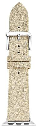 Kate Spade Gold-Tone Glitter-Effect Apple Watch® Leather Strap, 38mm