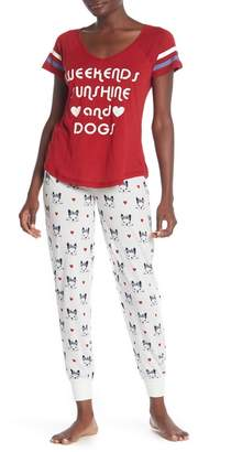 PJ Salvage Printed Pajama Jogger Pants
