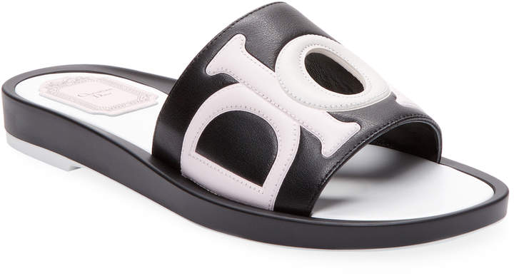 Dior Women's Leather Slip-On Sandal