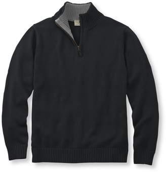 L.L. Bean L.L.Bean Double L Cotton Sweater, Quarter-Zip