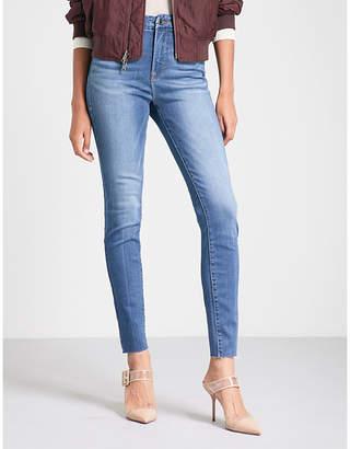 Good American Good Legs raw-edge skinny high-rise jeans
