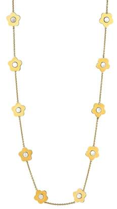 Asha Lulu Mother-of-Pearl Station Necklace