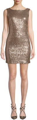 Jay Godfrey JAY X JAYGODFREY Cowl-Back Sequin Mini Dress