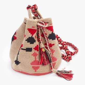 Guanabana Handmade Medium Wayuu Bag Pink & Black
