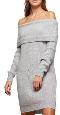 Miss Selfridge Off-the-Shoulder Knit Dress