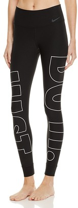 Nike Just Do It Power Leggings $75 thestylecure.com