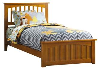 Atlantic Furniture Mission Twin Traditional Bed with Matching Foot Board, Multiple Colors