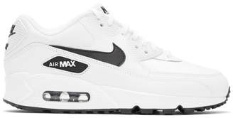 Nike White and Black Air Max 90 Sneakers