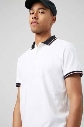 Forever 21 Striped Trim Polo Shirt