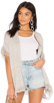 DAY Birger et Mikkelsen One Grey Felix Fringe Cardigan
