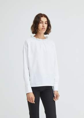 Atlantique Ascoli Grand Voile Poplin Ruffle Collar Shirt