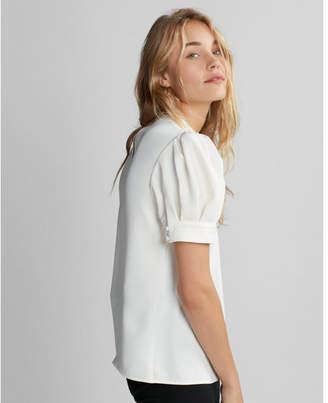 Express short sleeve puff shoulder blouse