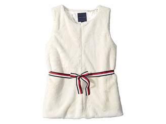Tommy Hilfiger Fur Vest with Signature Belt (Big Kids)