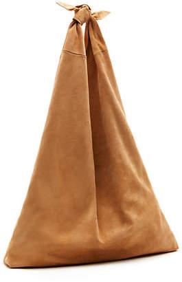 The Row Bindle Knot Suede Hobo Bag