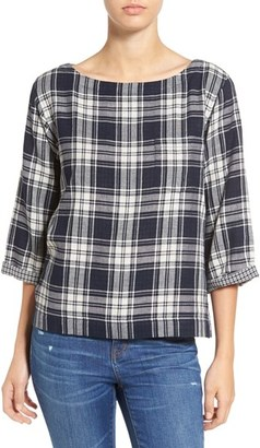 Madewell 'Bedford' Plaid Boxy Tee $79.50 thestylecure.com