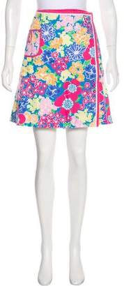 Lilly Pulitzer Floral Print Wrap Skirt