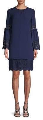 MICHAEL Michael Kors Bell-Sleeve Lace Shift Dress