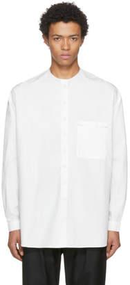 Sunnei White Raw Cut Overshirt