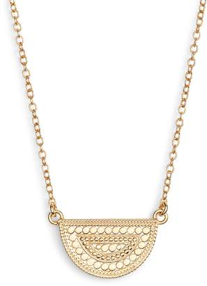 Anna Beck Beaded Reversible Half-Moon Necklace